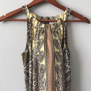 EUC NEWYORK&CO Maxi Dress w Belt
